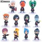 11pcs Naruto Akatsuki Uchiha Itachi Madara Sasuke Hidan Oroc Toy