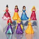 14pcs Set Princess Snow White Figures Ariel Belle Rapunzel A Toy