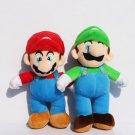 2pcs Lot 10 25cm Super Mario Bros Mario Luigi Plush Doll Stu Toy