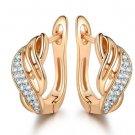 Xiagao New Design Gold Color Charm Austrian Crystal Hoop Ear 2 E4R