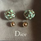 DIOR TRIBAL GREEN Jade Crystal Earrings Mise En Dior Tribale Authentic NIB