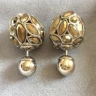 DIOR TRIBAL Earrings Mise en DIOR TRIBALE GOLD Plated Crystal Limited Ed NIB