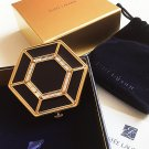 ESTEE LAUDER ROYAL HERITAGE 2007 Crystal Black Octagon Powder Compact NIB