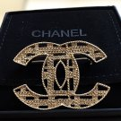 CHANEL Antique Gold Brooch Pin Interwoven Metal Chain CC Retro Authentic NIB