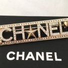CHANEL GOLD Crystal Brooch Pin All-Letters Badge Authentic CC HALLMARK NIB