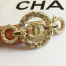 CHANEL Rome Paris Crystal CC Brooch Multi Color Byzantine GOLD Authentic NIB