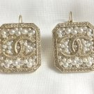CHANEL Bubble Pearls Crystal CC Gold Leverback BIG Earrings Fashion Statement