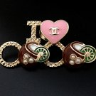 CHANEL Cuba Fashion Brooch Pin CC BICYCLE Multi Color Enamel HALLMARK