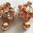 DIOR TRIBAL Rose Gold Flower Petals Pearl Earrings Mise En Dior Authentic NIB
