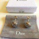 DIOR TRIBALE Earrings SECRET CANNAGE Silver CD Stud Mise en Dior NIB