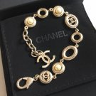 CHANEL Classic Gold Metal CC Pearl Bracelet Vintage Style Authentic NIB