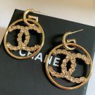 CHANEL CC Princess Cut Square Crystal Gold Hoop Earrings 2019 NIB