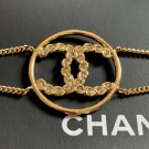 CHANEL CC Princess Cut Crystal Bracelet Gold Medal Chain Authentic NIB