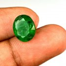 5.65 Ct Natural Oval IGL Certified Zambian Emerald Loose Gemstone Christmas Gift