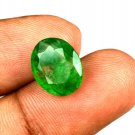4.90 Ct Natural Oval IGL Certified Zambian Emerald Loose Gemstone Christmas Gift