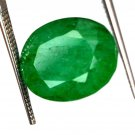 8.05 Ct Natural Oval IGL Certified Zambian Emerald Loose Gemstone Christmas Gift