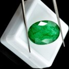 10.95 Ct Natural Oval Certified Green Emerald Loose Gemstone-INDEPENDENCE DAY