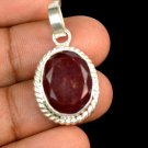 18.20 Ct Natural Oval Red Ruby Gemstone Sterling Silver Pendant Xmas Gift Ebay