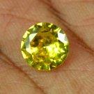 3.35 Ct Natural Round IGL Certified Cambodian Yellow Zircon Gemstone Xmas Gift