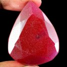 156.15 Ct Natural Pear Cut Pigeon Blood Red Ruby Loose Gemstone Christmas Gift