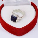 21.55 Ct Certified Emerald Cut Natural Blue Sapphire Gemstone Astrological Ring