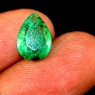 2.65 Ct Natural Pear Zambian GGL Certified Transparent Emerald Loose Gemstone
