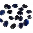 200Ct/17Pcs Ebay Natural Mixed Shape African Blue Sapphire Loose Gemstone Lot