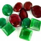100Ct/11Pcs Ebay Awesome Natural Mixed Shape Ruby & Emerald Loose Gemstone Lot