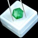 5.30 Ct Natural Hexagon Cut IGL Certified Green Emerald Gemstone Christmas Gift
