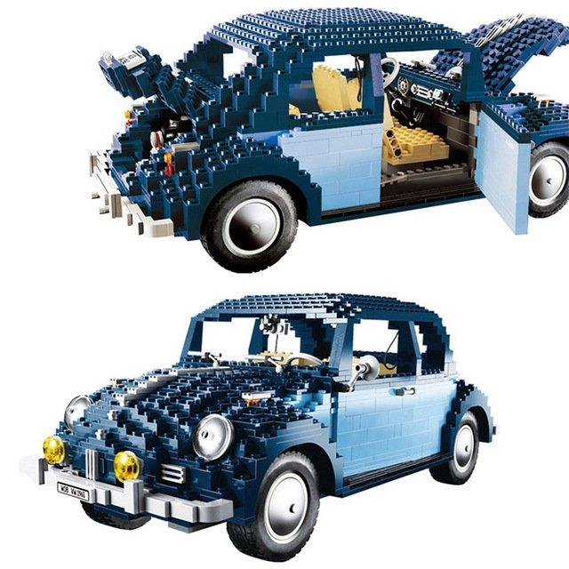 Creator BEETLE Blue Vintage Car Compatible 10187 LP 21014