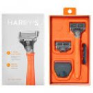 #1 Rated Shaving Harry's Men's Razor with 2 Razor Blades - Bright Orange