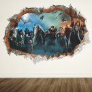 3D Wall Stickers Harry Potter Hogwarts Wizarding World School Staticker Kids Room Decoration