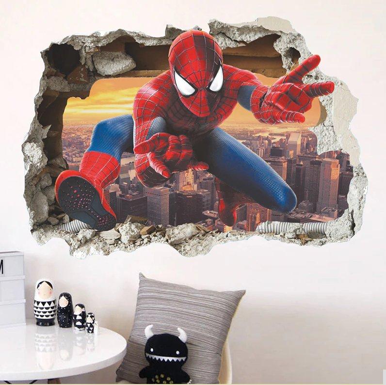 The Avengers 3D Wall Stickers Spideman Staticker Kids Room Decoration