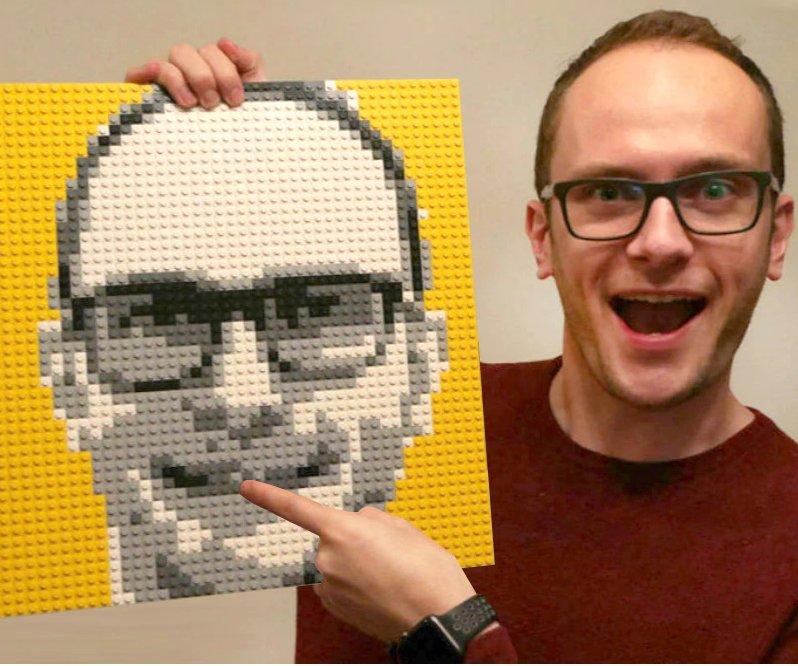 LEGO Personal Portrait 100% Customized Pixel Art Mosaic Painting Building Brick Set