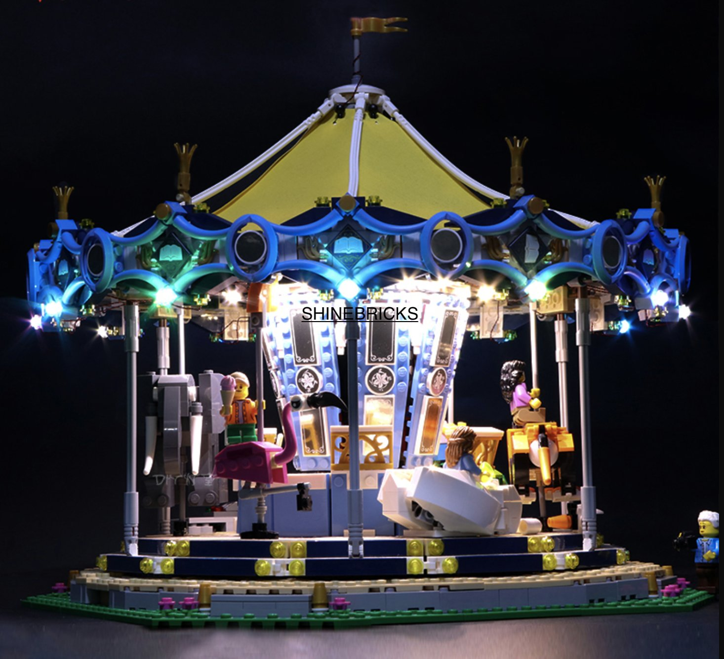 LED Light Kit For LEGO 10257 Carousel  (Lego Set not Included)