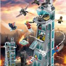 MOC Superheroes Attack on Avengers Tower Compatible 76038 with Manual Book