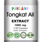 Tongkat Ali Organic Extract 1000mg 120 Caps Pasak Bumi Longjack Sexual Health
