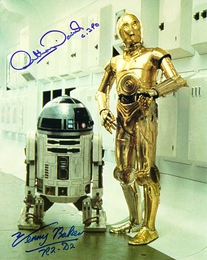 Signed C-3PO and R2-D2 Photo