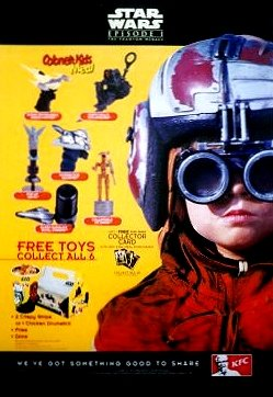 Mint Condition KFC Plastic Promo STAR WARS Poster #1