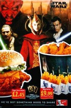 KFC Plastic Promo STAR WARS Poster #2 AMIDALA