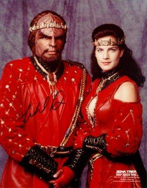 Autographed STAR TREK Deep Space Nine colour photo