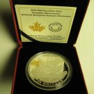 2014 Proof $30 Nat'l Aboriginal Veterans Monument Canada 2oz .9999 silver