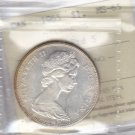 1965 ICCS MS65 $1 SmBds Ptd 5 (Type 1 Small Beads Pointed 5) Canada silver dollar XAB 369