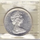 1966 ICCS MS65 $1 Large Beads CAMEO Canada silver dollar one XKL 250
