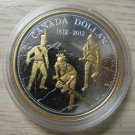 2012 Proof $1 200th Anniversary War of 1812 .9999 Silver Dollar w/ Gold Canada COIN ONLY