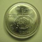 1975 BU $10 1976 Montreal Olympics #15-Women's Shotput COIN ONLY Canada .925 silver ten dollars
