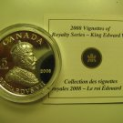 2008 Proof $15 Vignettes #2-Edward VII Ultra High Relief UHR COIN&COA ONLY Canada fifteen