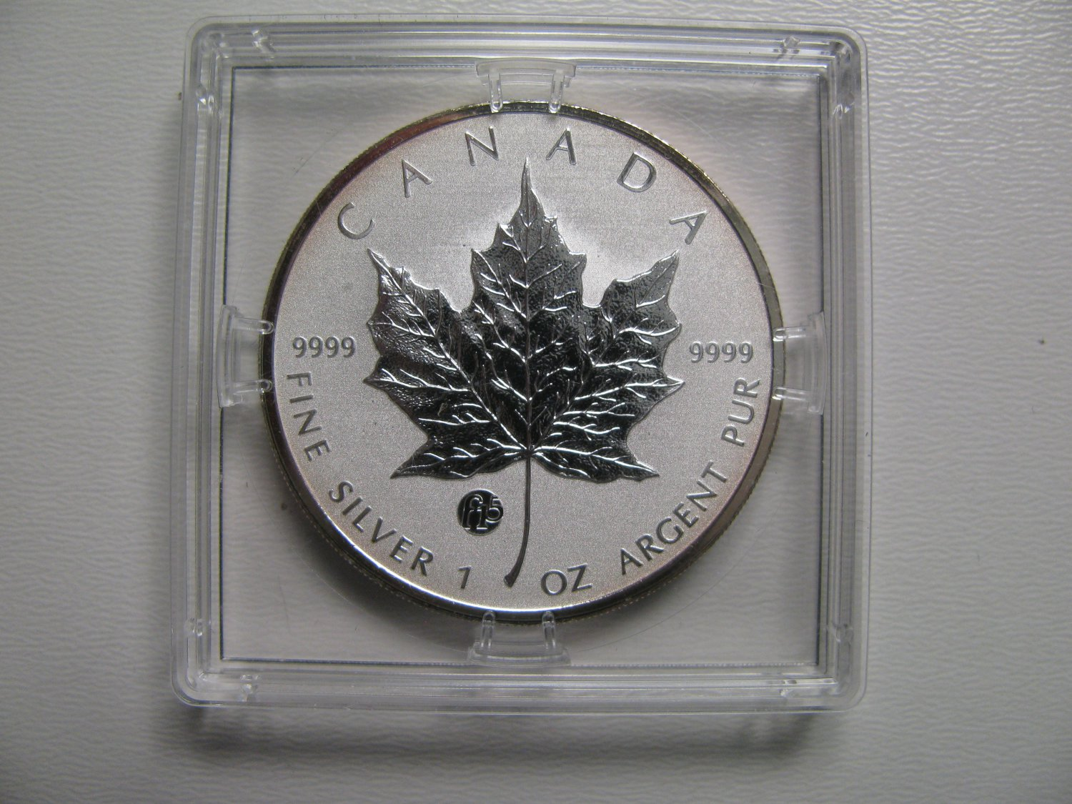 2011 Specimen $5 1oz .9999 Silver Maple Leaf SML Fabulous F15 Privy Mark Canada COIN ONLY