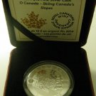 2014 Proof $10 O Canada #3-Skiing Canada's Slopes .9999 silver ten dollars