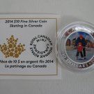 2014 Proof $10 Learning to Skate Skating Canada .9999 silver COIN&COA ONLY